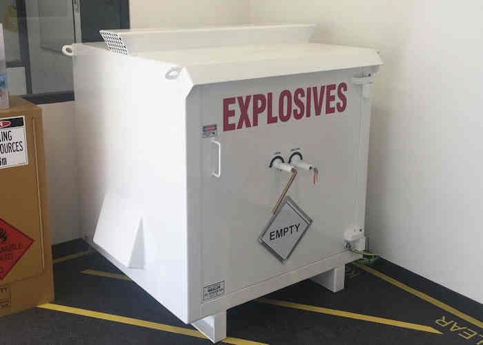 Maglok small explosives storage magazine