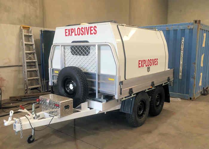 Maglok explosives storage magazines trailer