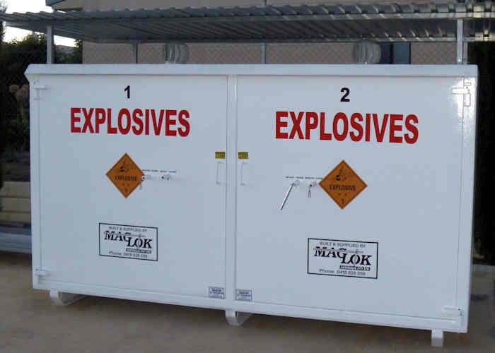 Maglok explosives storage magazines