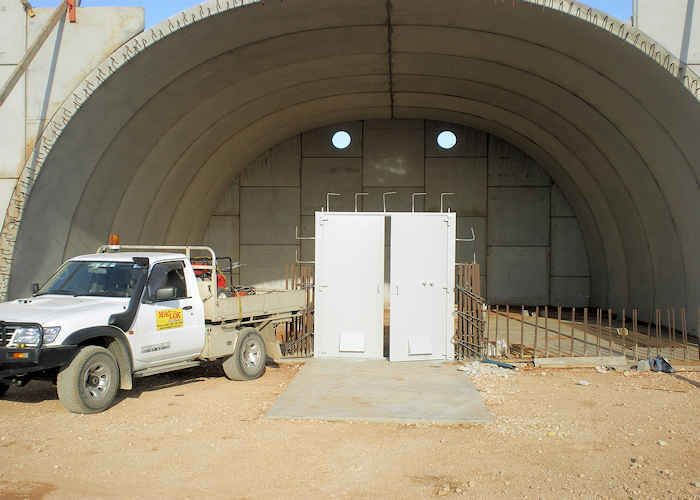 Maglok Explosives Storage Positioning-in-place